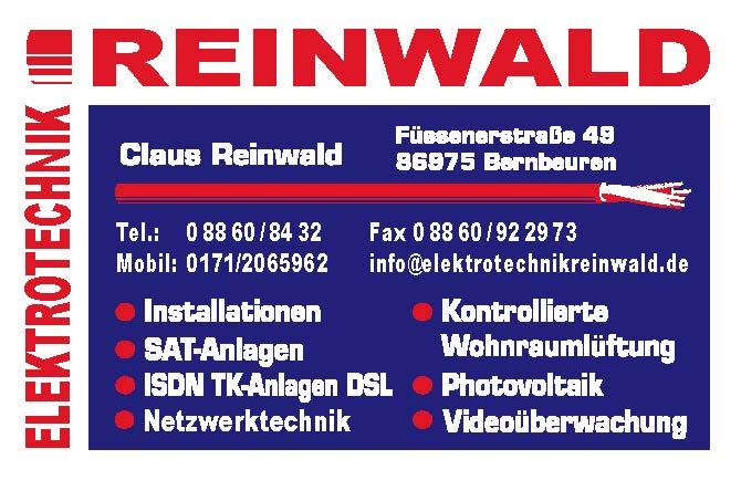 Logo Elektrotechnik Reinwald