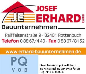 Logo Bauunternehmen Josef Erhard GmbH